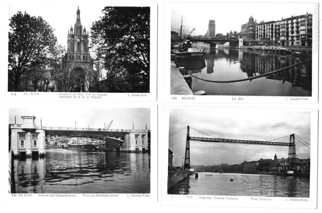 P-11468. LOTE DE 8 POSTALES FOTOGRAFICAS BILBAO, L. ROISIN. MEDIADOS S.XX. (Postales - España - Baleares Moderna (desde 1.940))