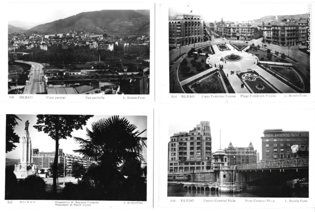 Postales: P-11468. LOTE DE 8 POSTALES FOTOGRAFICAS BILBAO, L. ROISIN. MEDIADOS S.XX. - Foto 2 - 202728761
