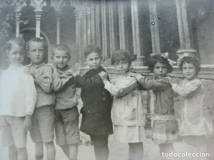PALMA DE MALLORCA-ESCUELA CATOLICA ALEMANA-GRUPO DE ALUMNOS-POSTAL FOTOGRAFICA ANTIGUA-(69.425) (Postales - España - Baleares Antigua (hasta 1939))