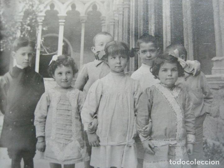 PALMA DE MALLORCA-ESCUELA CATOLICA ALEMANA-GRUPO DE ALUMNOS-POSTAL FOTOGRAFICA ANTIGUA-(69.426) (Postales - España - Baleares Antigua (hasta 1939))