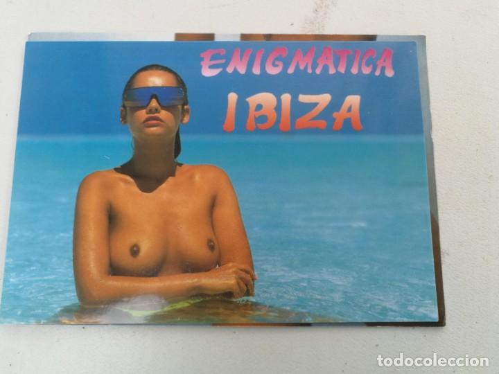ANTIGUA POSTAL EROTICA DE IBIZA - ENIGMATICA - (Postales - España - Baleares Moderna (desde 1.940))