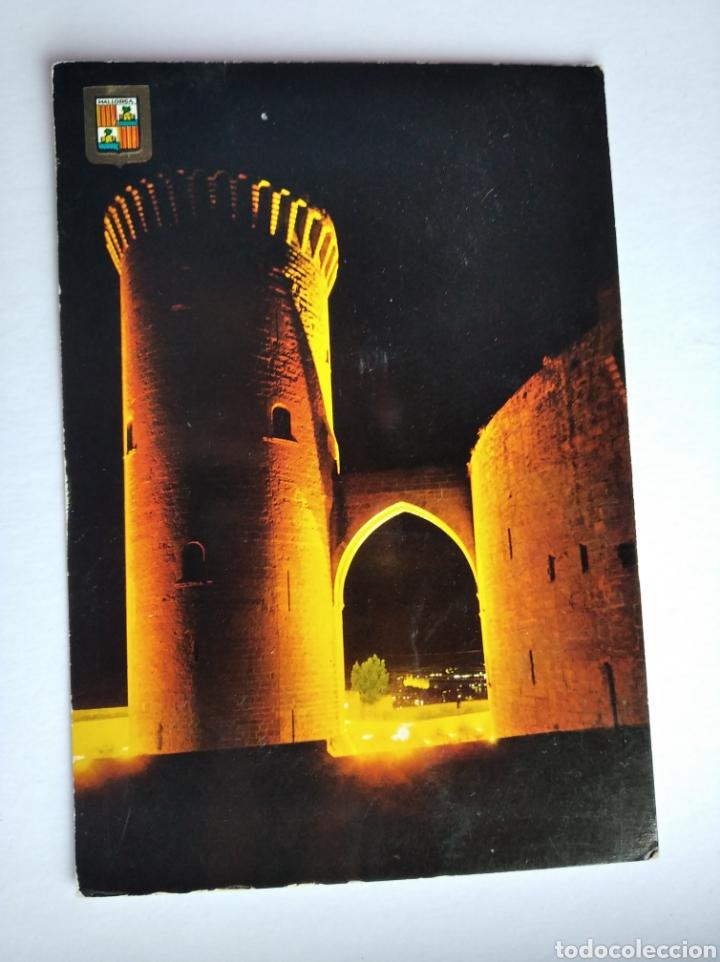 POSTAL MALLORCA PALMA CASTILLO DE BELLVER NOCTURNA SUBIRATS (Postales - España - Baleares Moderna (desde 1.940))