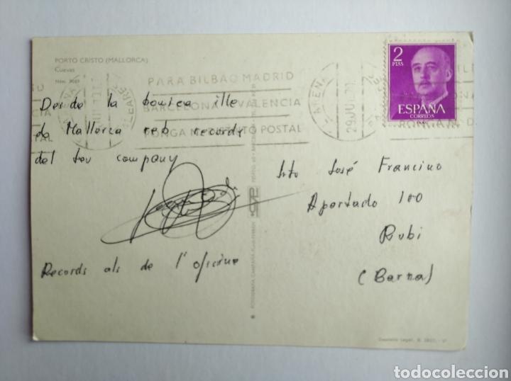 Postales: Postal Mallorca porto cristo cuevas circulada año 1970 - Foto 2 - 204008825