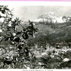 Postales: MALLORCA SOLLER ENTRE NARANJOS Y NIEVE S/C EDIC.- TRUYOL CIRCULADA (VER DORSO) AÑO 1954. Lote 204113943