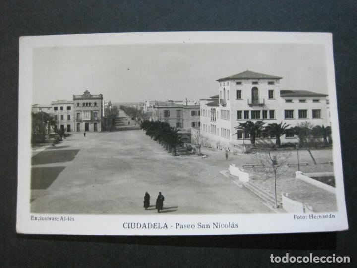Postales: CIUDADELA-PASEO SAN NICOLAS-HERNANDO FOTOGRAFICA-POSTAL ANTIGUA-(70.242) - Foto 2 - 204800856