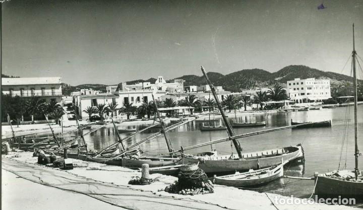 IBIZA-SAN ANTONIO-PUERTO-AÑO 1960- FOTOGRÁFICA CAMPAÑA (Postales - España - Baleares Moderna (desde 1.940))