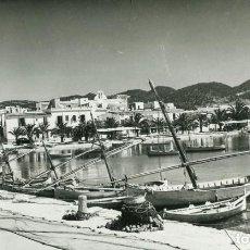 Postales: IBIZA-SAN ANTONIO-PUERTO-AÑO 1960- FOTOGRÁFICA CAMPAÑA. Lote 205023567