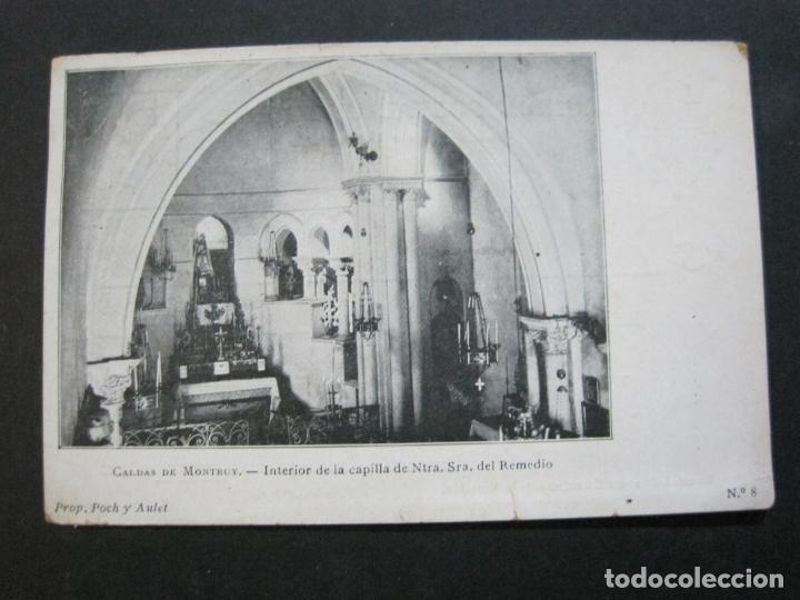 CALDAS DE MONTBUY-CAPILLA DE NTRA SRA DEL REMEDIO-REVERSO SIN DIVIDIR-POSTAL ANTIGUA-(70.445) (Postales - España - Baleares Antigua (hasta 1939))