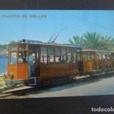 Postales: PUERTO DE SOLLER MALLORCA TRANVIAS. Lote 205275863