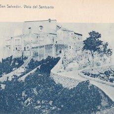 Postales: MALLORCA FELANITX SAN SALVADOR VISTA DEL SANTUARIO. ED. THOMAS, IMPRENTA REUS Nº 3. SIN CIRCULAR. Lote 205301981