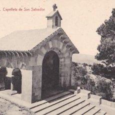 Postales: MALLORCA CAPELLETA DE SAN SALVADOR. ED. THOMAS, IMPRENTA REUS Nº 14. SIN CIRCULAR. Lote 205302351