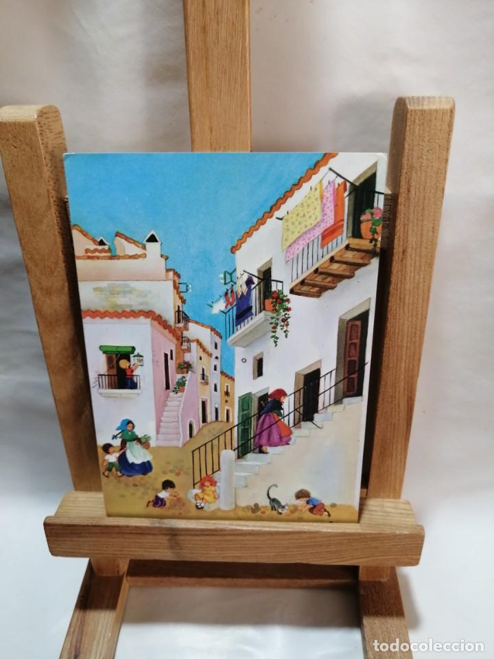 POSTAL IBIZA (BALEARES) VILA CALLE TIPICA CIRCULADA (Postales - España - Baleares Moderna (desde 1.940))