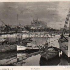 Postales: POSTAL DE PALMA DE MALLORCA - EL PUERTO. Lote 205898156