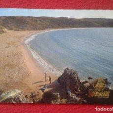 Postales: POST CARD BALEARIC ISLANDS ISLAS DE MENORCA ARENAL D´EN CASTELL PUBLICIDAD IBERIA LINEAS AÉREAS VER. Lote 205900196