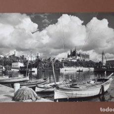 Postales: POSTAL 2043 CATEDRAL Y LONJA DESDE ES MOLLET. PALMA. MALLORCA. FOTO CASA PLANAS. CIRCULADA EN 1957.. Lote 206155213
