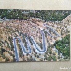 Postales: POSTAL MALLORCA, SOLLER, VISTA AEREA DE LA CARRETERA DEL COLL. Lote 206880163