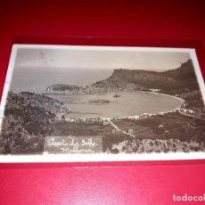 """Postales: MALLORCA """" PUERTO DE SOLLER"""" ESCRITA Y SELLADA CON SELLO REPUBLICA 1932. Lote 207706942"""