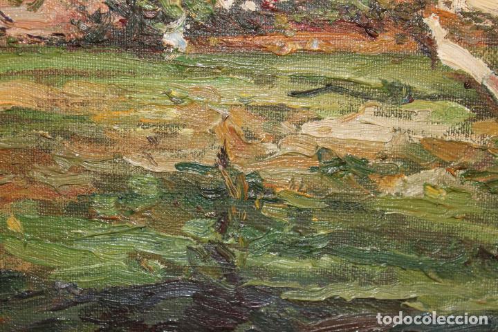 Postales: oleo sobre lienzo paisaje cap de mar - Foto 4 - 207942955
