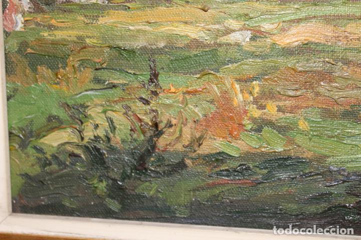 Postales: oleo sobre lienzo paisaje cap de mar - Foto 5 - 207942955