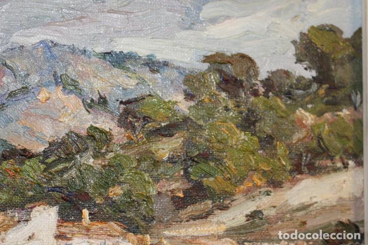 Postales: oleo sobre lienzo paisaje cap de mar - Foto 6 - 207942955