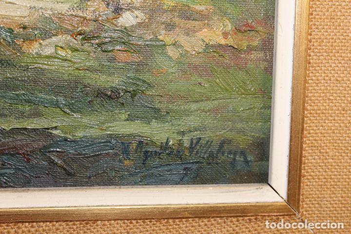Postales: oleo sobre lienzo paisaje cap de mar - Foto 9 - 207942955