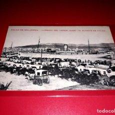 """Postales: PALMA DE MALLORCA """" LLEGADA DEL VAPOR JAIME I AL PUERTO DE PALMA """" SIN CIRCULAR. Lote 208189623"""