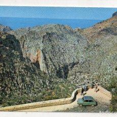 Postales: MALLORCA. TORRENTE DE PAREYS. MIRADOR DE S´ENTREFORC. SEAT 600.. Lote 208447935