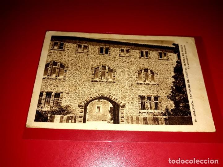 "POSTAL MALLORCA "" SANRTUARIO DE NTRA. SEÑORA DE LLUCH "" ESCRITA Y SELLADA 1942 (Postales - España - Baleares Moderna (desde 1.940))"