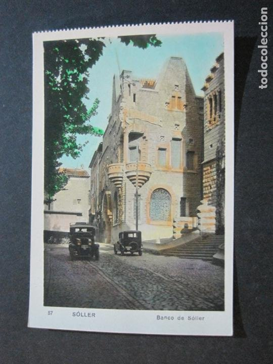 SOLLER-BANCO DE SOLLER-FOTOGRAFICA-POSTAL ANTIGUA-(72.248) (Postales - España - Baleares Antigua (hasta 1939))