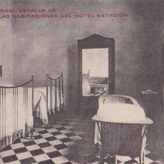 Postales: MALLORCA SOLLER DETALLE DE UNA HABITACION DEL HOTEL ESTACION. SIN CIRCULAR. Lote 210328841
