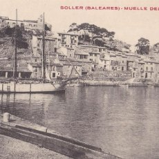 Postales: MALLORCA SOLLER MUELLE DEL PUERTO. SIN CIRCULAR. Lote 210328976
