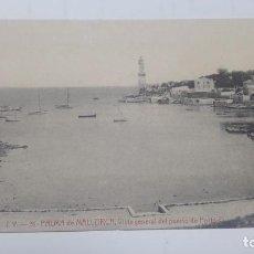 Postales: POSTAL J.V. 31 PALMA DE MALLORCA VISTA GENERAL DEL PUERTO DE PORTO PI ,. Lote 210543953