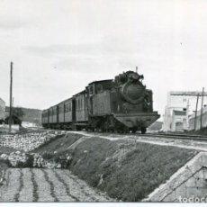Postales: MALLORCA-FERROCARRILES DE MALLORCA-TREN LLEGANDO A MANACOR -AÑO 1958-FOTOGRÁFICA. Lote 210718031