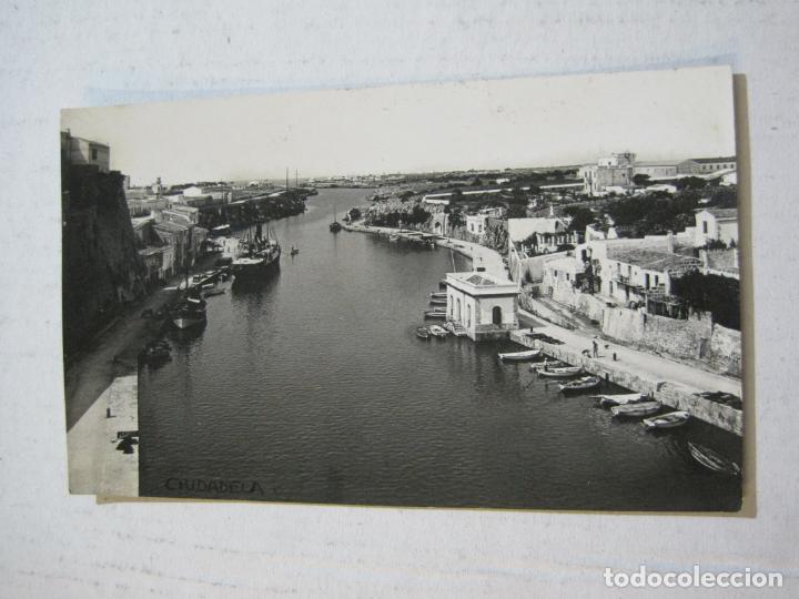 CIUDADELA-VISTA GENERAL PUERTO-ARCHIVO ROISIN-FOTOGRAFICA-POSTAL ANTIGUA-(72.803) (Postales - España - Baleares Antigua (hasta 1939))