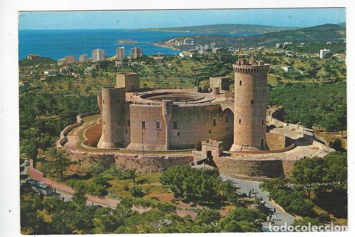 PALMA.- CASTILLO DE BELLVER. VISTA AEREA. (Postales - España - Baleares Moderna (desde 1.940))