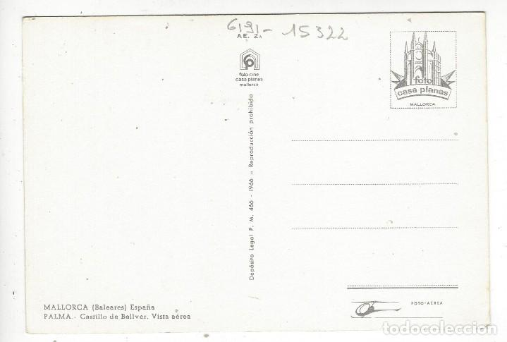 Postales: PALMA.- Castillo de Bellver. Vista aerea. - Foto 2 - 211671653