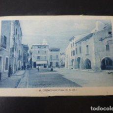 Postales: CIUDADELA MENORCA PLAZA DE ESPAÑA. Lote 211719698