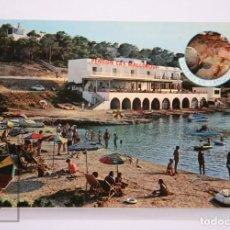 Postales: POSTAL EN COLOR - PENSIÓN CA'S MALLORQUI. PORTINATX, IBIZA. VIVERO DE LANGOSTAS - AGFACOLOR. Lote 213237876