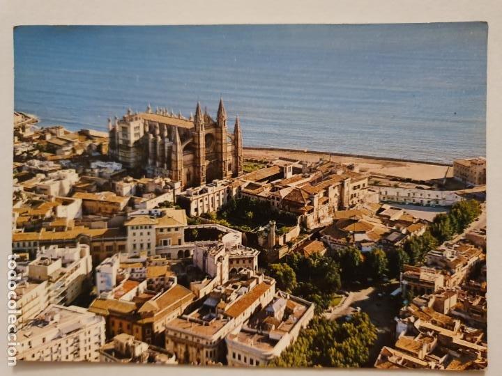 MALLORCA - PALMA - VISTA AÉREA DE LA CATEDRAL - MLL1 (Postales - España - Baleares Moderna (desde 1.940))