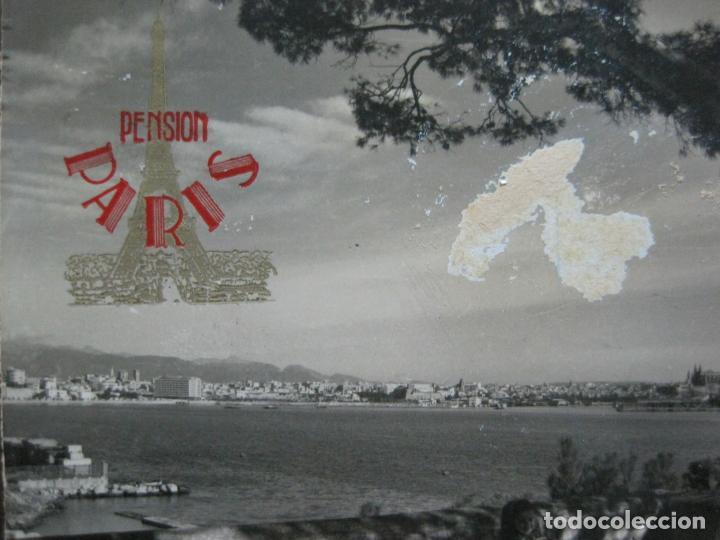 Postales: PALMA DE MALLORCA-PUERTO-PUBLICIDAD PENSION PARIS-POSTAL ANTIGUA-(73.408) - Foto 2 - 214752947