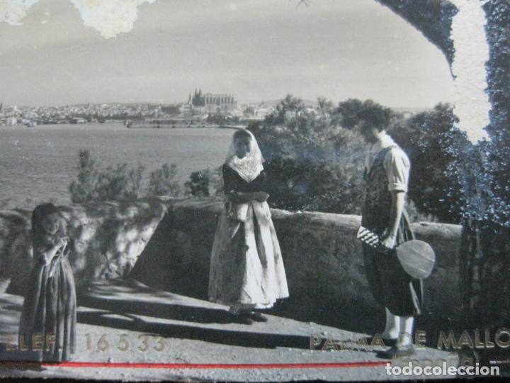 Postales: PALMA DE MALLORCA-PUERTO-PUBLICIDAD PENSION PARIS-POSTAL ANTIGUA-(73.408) - Foto 3 - 214752947