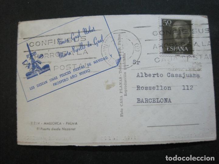 Postales: PALMA DE MALLORCA-PUERTO-PUBLICIDAD PENSION PARIS-POSTAL ANTIGUA-(73.408) - Foto 4 - 214752947
