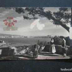 Postales: PALMA DE MALLORCA-PUERTO-PUBLICIDAD PENSION PARIS-POSTAL ANTIGUA-(73.408). Lote 214752947
