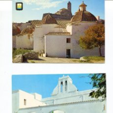 Postales: LOTE 2 POSTALES IBIZA-SANTO DOMINGO-SAN ANTONIO IGLESIA- AÑOS 1960-70. Lote 217510367