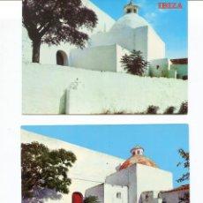 Postales: LOTE 2 POSTALES IBIZA- IGLESIA DE SAN JOSÉ- AÑOS 1960-70. Lote 217510437