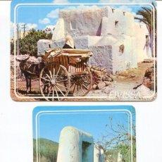 Postales: LOTE 2 POSTALES IBIZA-CASA Y PAGESA CON CARRO -POZOS AGUA- AÑOS 1960-70. Lote 217528697