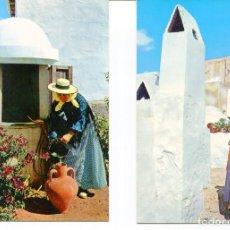 Postales: LOTE 2 POSTALES-IBIZA-POZOS IBICENCOS-PAGESES CON CANTARO DE BARRO- AÑOS 1960-70. Lote 217588057