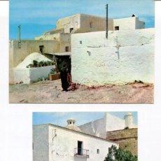 Postales: LOTE 2 POSTALES-IBIZA-CASAS Y CALLE TÍPICAS-- AÑOS 1960-70. Lote 217588117