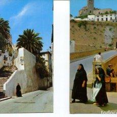 Postales: LOTE 2 POSTALES-IBIZA-CALLE Y MUJERES TÍPICAS-- AÑOS 1960-70. Lote 217588335