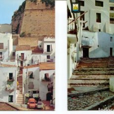 Postales: LOTE 2 POSTALES-IBIZA-CALLES TÍPICAS-- AÑOS 1960-70. Lote 217588382